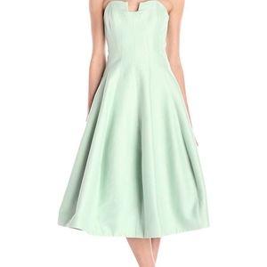SALE!! Halston Heritage Tea Length Green Dress NWT
